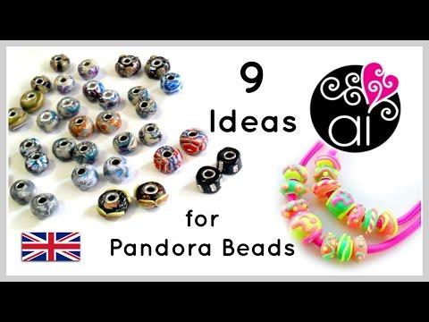 9 Ideas for DIY Pandora Beads | Polymer Clay Tutorial | English Version