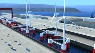 Principle Power's WindFloat Concept Animation