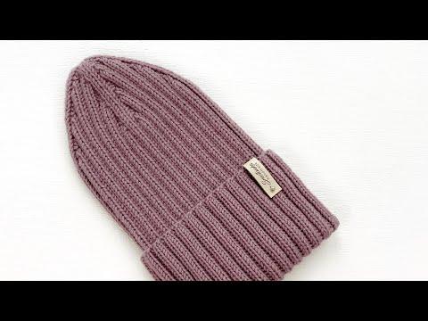 Вязание спицами шапки резинкой 2 на 2