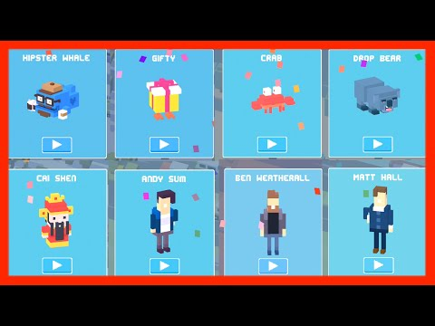 Unlock ☆ Original 8 ☆ Mystery Characters Crossy Road. From ✿ Hipster Whale ✿ to ☆ Cai Shen ☆
