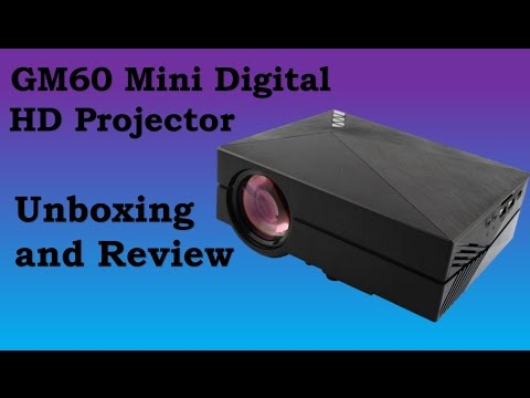 GM60 Mini Digital HD Home Theater Projector unboxing and review