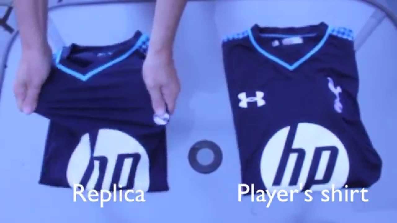 best website ed5d3 1838e Tottenham Hotspur Third Shirt 2013/14 unboxing REPLICA vs AUTHENTIC  Player's Shirt