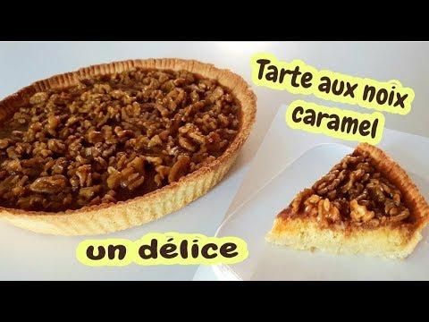 tarte-au-noix-&-au-caramel--facile-à-réaliser