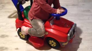 красная машинка каталка без педалей для дома и улицы подножки можно убрать