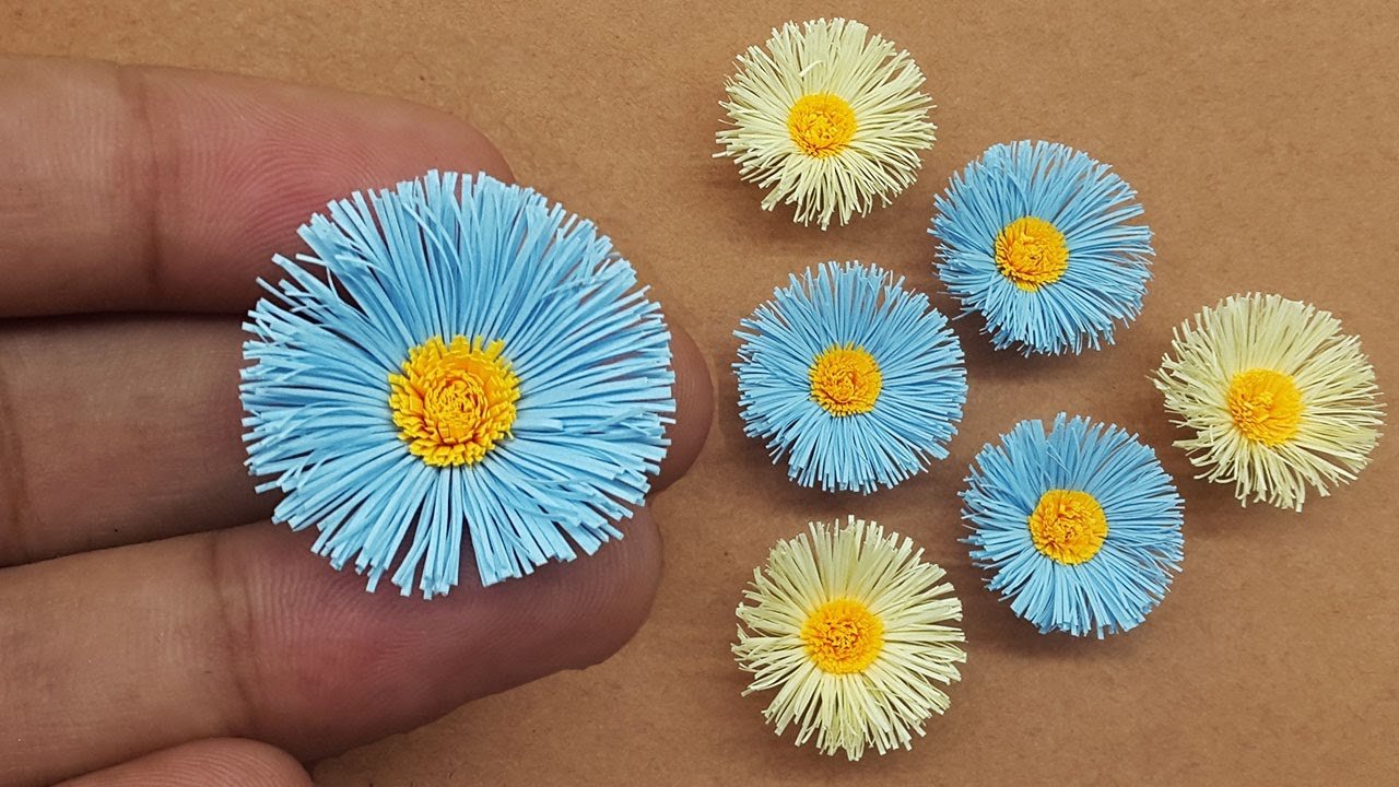 DIY Mini Paper Flowers 🌸 How to Make a Tiny Flower Out of Paper 🌸 Mini Paper Crafts