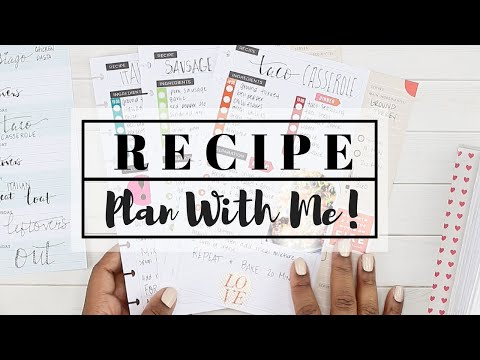 Recipe Planning for BULK FREEZER MEALS! with the Happy Planner RECIPE KEEPER!