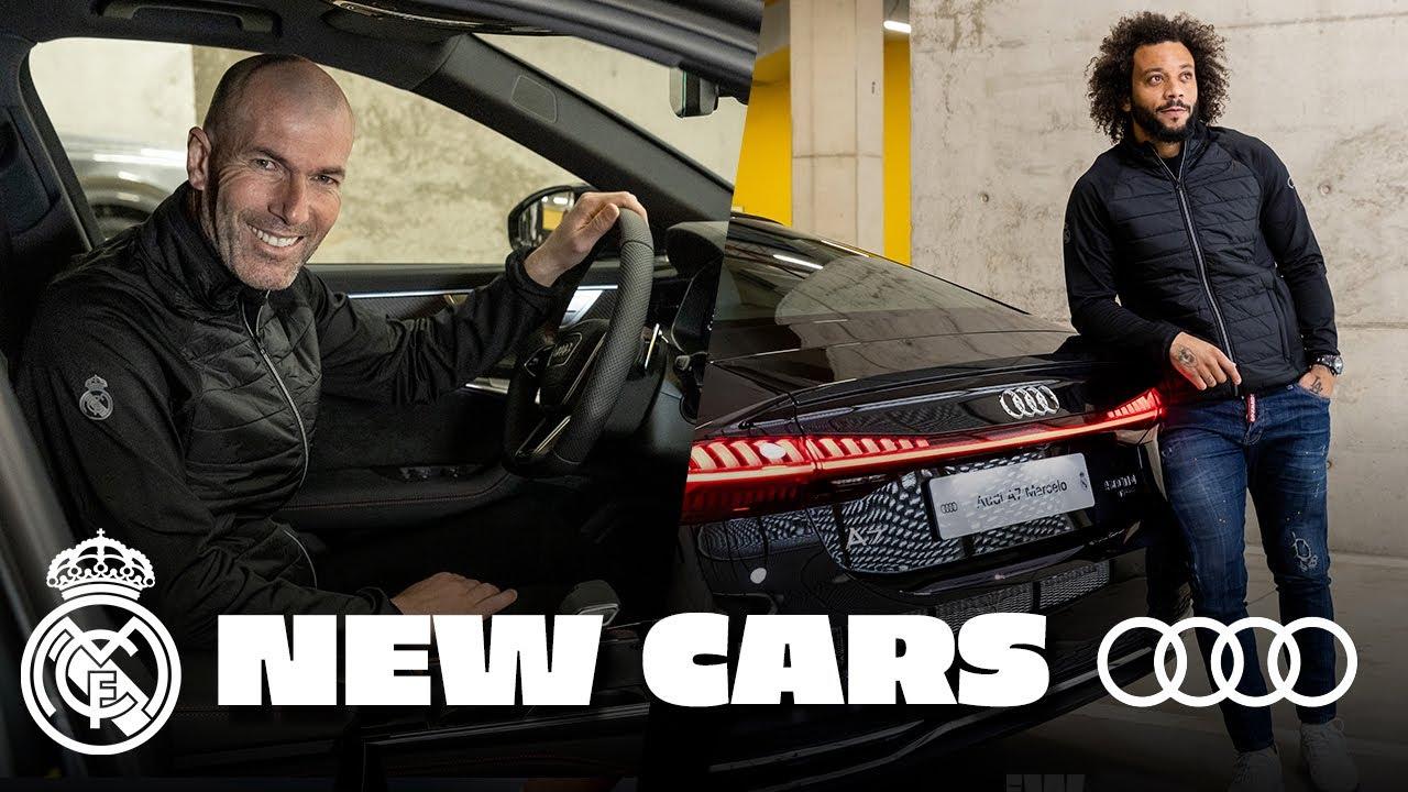 صورة فيديو : 🚗 NEW Audi cars for Zidane, Ramos & Real Madrid team!