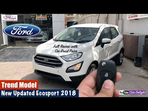 New Ford Ecosport 2018 Trend Model Detailed Review   Team Car Delight