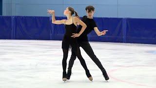 Екатерина Каташинская Александр Васькович Ритм танец Контрольные прокаты по фигурному катанию