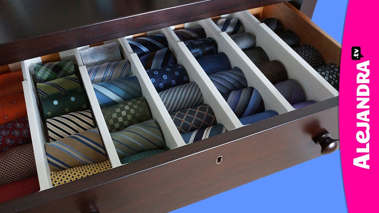 How to Organize Ties - YouTube