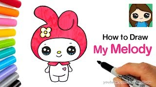 How to Draw My Melody Easy | Sanrio
