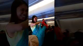 Air Asia Flight Kuala Lumpur to Seoul 23/10/2017 special event for Deepavali