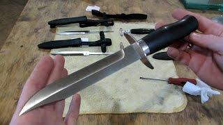 ОБЗОР готовых ножей по мотивам НР-40 нож разведчика. Изготовление в период 03-042017г