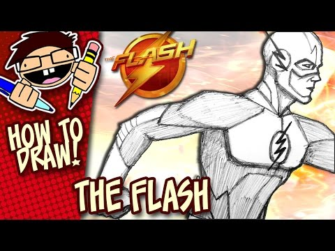 how-to-draw-the-flash-(the-cw-tv-series)-version-1-|-narrated-easy-step-by-step-tutorial