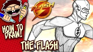 How to Draw THE FLASH (The CW TV Series) VERSION 1 | Narrated Easy Step-by-Step Tutorial