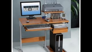 Best & Cheap Computer Desk 2014 - Techni Mobili Mobile & Compact MDF Computer Cart, Graphite