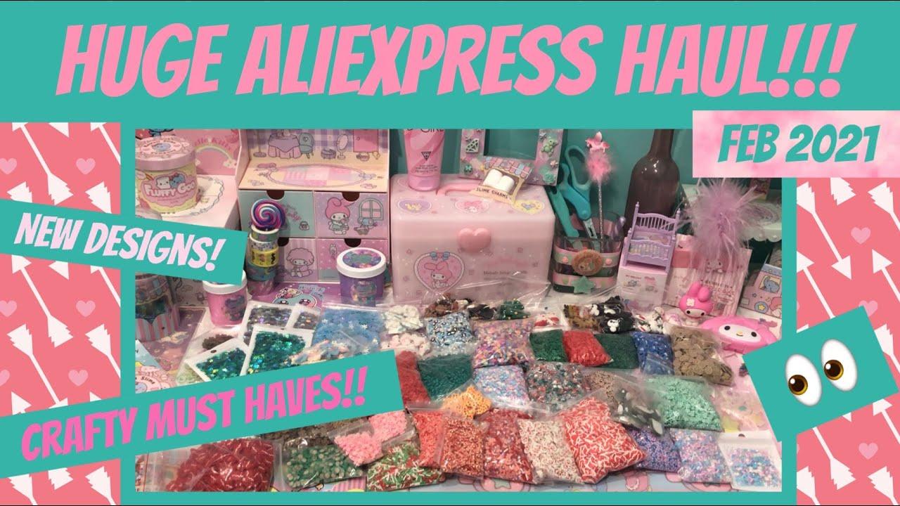 HUGE MUST SEE AliExpress HAUL!!! New Crafty Goodies Feb 2021