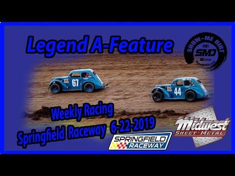 S03-E317 Legend A-Feature - Springfield Raceway 6-22-2019