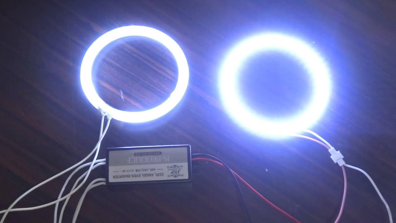 CCFLイカリングとSMD LEDイカリングの明るさ比較実験 - YouTube