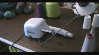 Machine Knitting Silver Needles Electric Cone Winder Demo