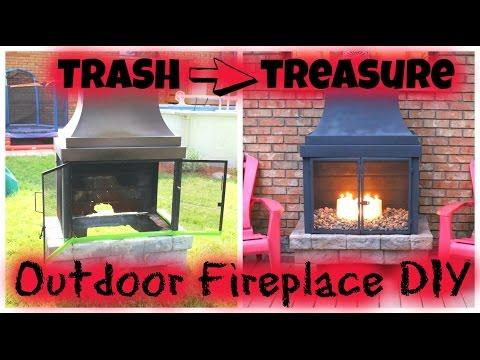 Trash to Treasure - Outdoor Fireplace DIY