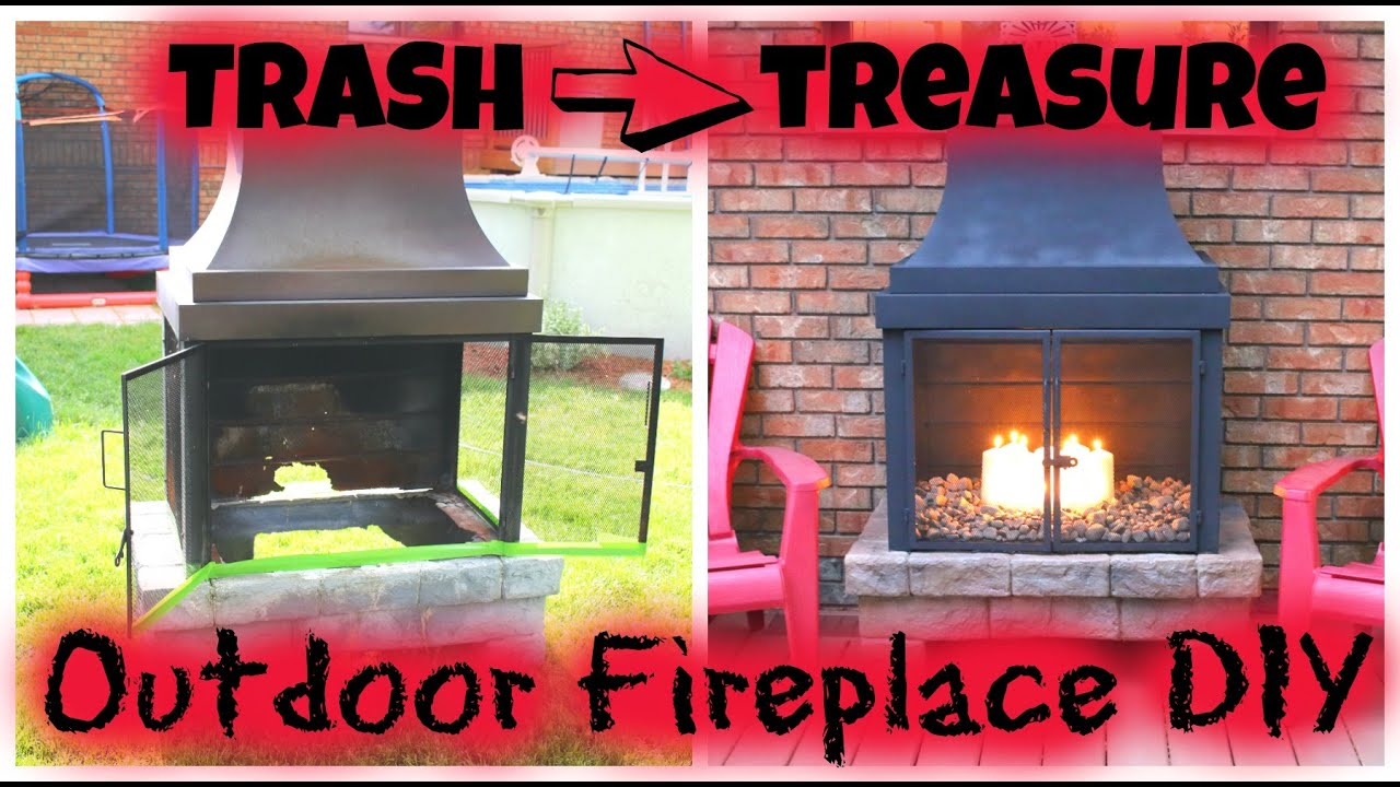 Trash to Treasure - Outdoor Fireplace DIY - YouTube