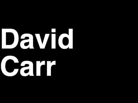 How to Pronounce David Carr QB New York NY Giants NFL Football Touchdown TD Tackle Hit Yard Run