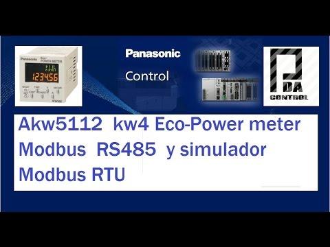Akw5112 KW4 EcoPower meter RS485 Modbus RTU and Simulator : PDA_Control