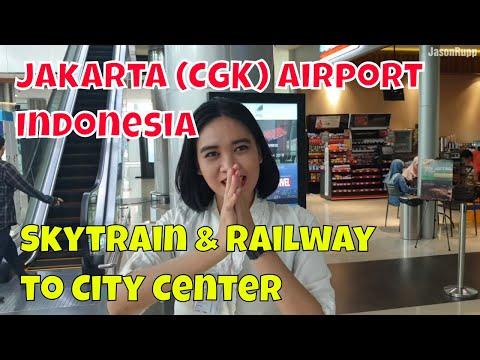Jakarta CGK Airport to city on Soekarno–Hatta Skytrain & Airport Rail Link train (Indonesia)