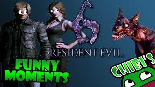 Resident Evil 6 Funny Moments Part 1 Surprise Train, Horrible aim, Zombie dogs!