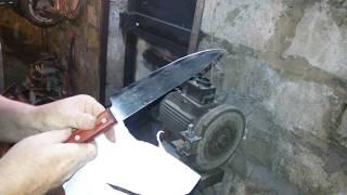 Быстрая заточка ножа до бритвенной остроты.