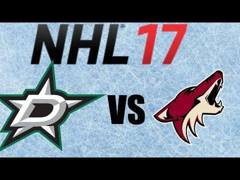 NHL 17 Dallas Stars VS Arizona Coyotes Full Game