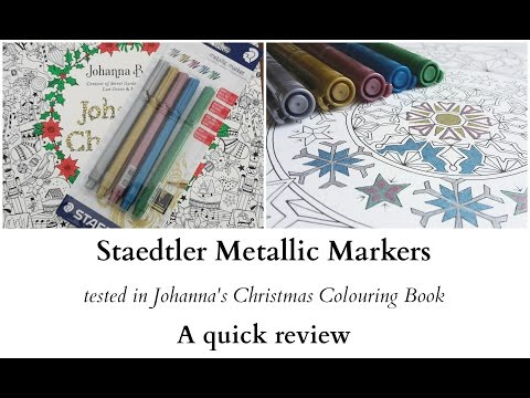 staedtler-metallic-markers-in-johanna's-christmas---a-review