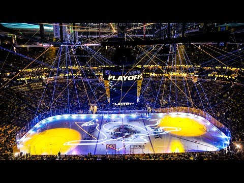 Pittsburgh Penguins Finals 2017 opening laser show