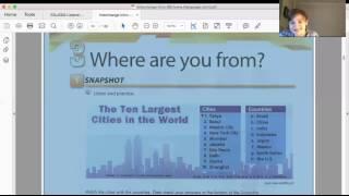 Обычный урок в скайп -школе GLASHA. Английский с географией :)