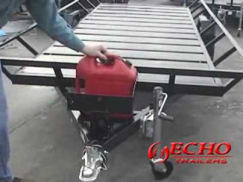 echo trailers Gas Can Rack with (2) 5 gallon cans 1