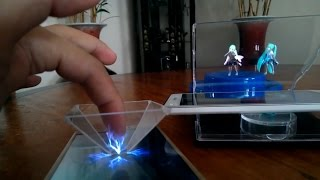 ĐTC - Biến điện thoại thành máy chiếu phim 3D hologram ảo diệu