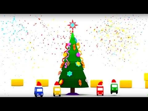 Развивающие #МУЛЬТИКИ для малышей про #МАШИНКИ: #4Машинки и НОВЫЙ ГОД: Наряжаем елку! 🎄