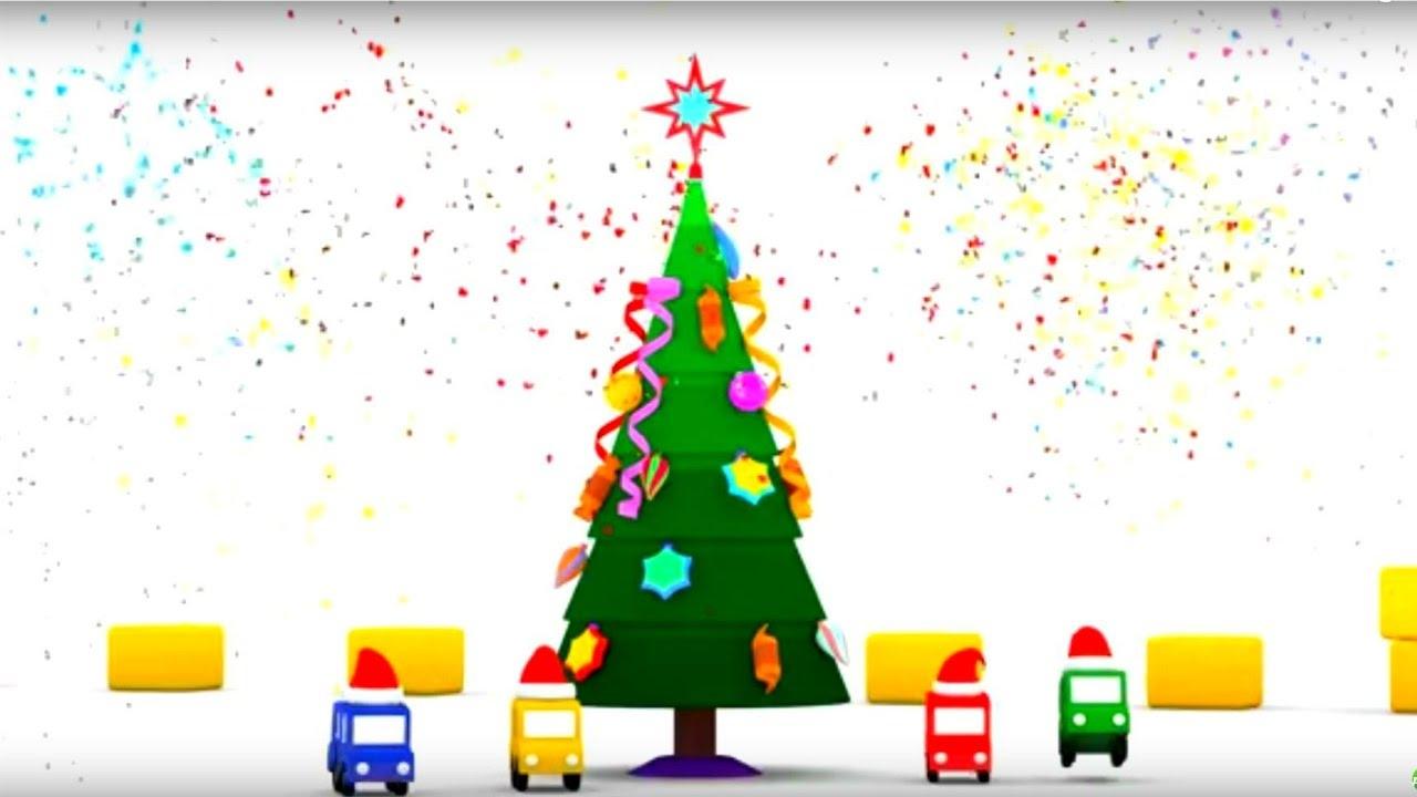 Мультик 4 Машинки и Новый год - Наряжаем елку