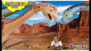 Journey to Dinosaur Island | Skyheart goes to see prehistoric dinosaurs for kids toys