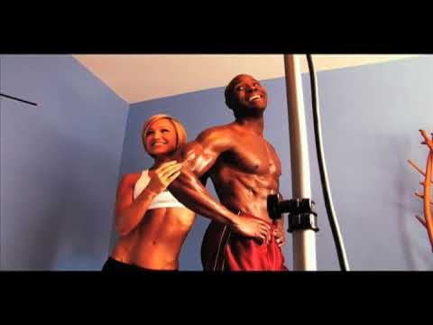 Part 1 of Obi Obadike and Jamie Eason Bodybuilding.com photoshoot featuring Kasie Rae