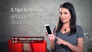 Больше места в iOS 9   Kingston DIY in 5 Ep. 2(Вашему iPhone или iPad не хватает места для хранения данных? Я дам вам несколько советов, как быстро освободить..., 2016-04-29T06:53:50.000Z)