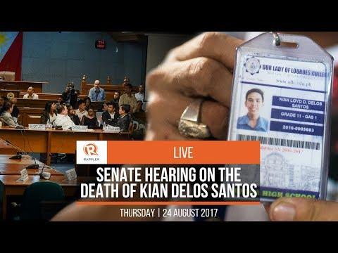 LIVE: Senate hearing on the death of Kian delos Santos
