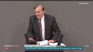 Bundestagsdebatte zum Forschungsrahmenprogramm zur Klimakrise am 18.01.19