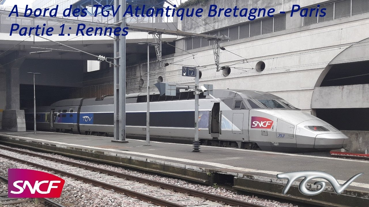 vt 41 a bord des tgv atlantique bretagne paris partie 1 rennes youtube. Black Bedroom Furniture Sets. Home Design Ideas