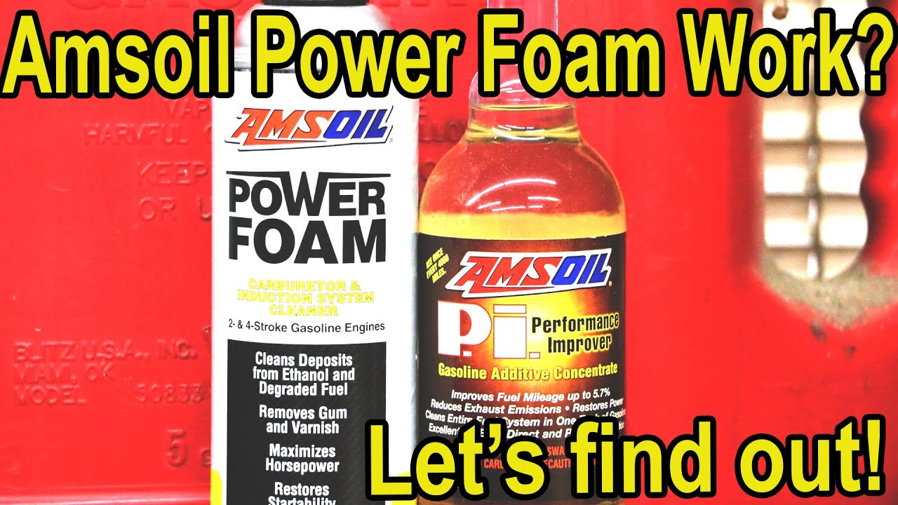 Is Amsoil Power Foam Better Than Seafoam Mmo Let S Find Out
