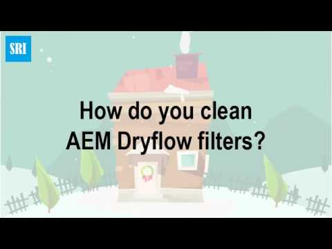 How do you clean AEM Dryflow filters