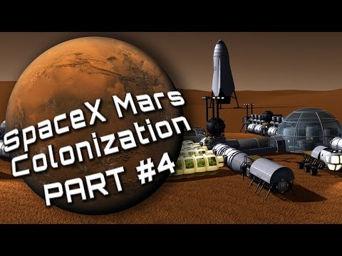 Mars Colonization E04 - Setting up a Mars colony (SpaceX ITS in KSP)