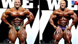 Big Ramy and Phil Heath at the 2017 Mr Olympia | Comparison