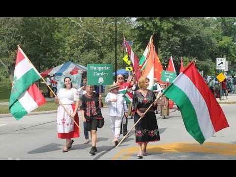 Parade of Flags at One World Day in Cleveland Cultural Gardens